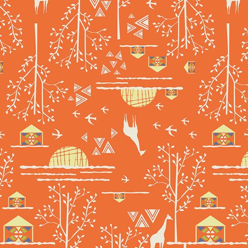 Art Gallery Fabrics - Safari Moon - Overland Journey Orange - SFR-6707