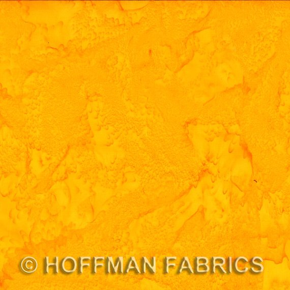 Hoffman - Yellow Batik Butter Cup