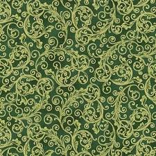 Robert Kaufman Holiday Flourish 13 SRKM-19255-7 Green