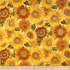 Robert Kaufman Shades of the Season - Metallic Sunflower on Ivory