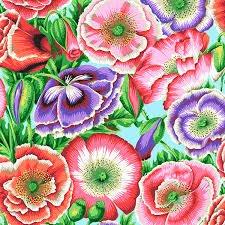 Free Spirit Kaffe Fassett Poppy Garden Pink