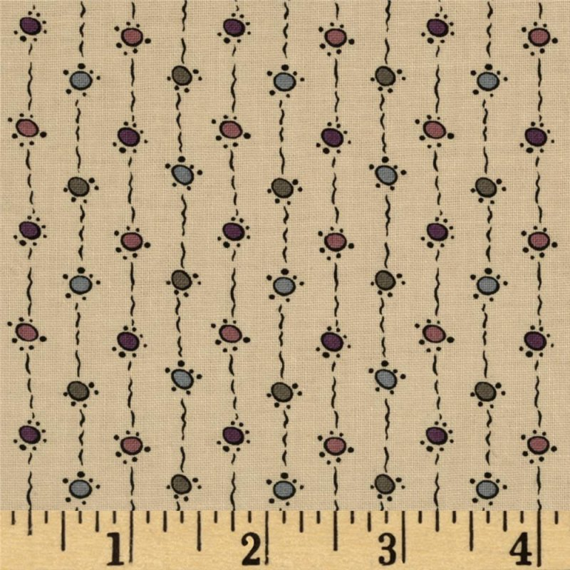 Andover Downton Abbey Dowager Countess String Dots - dark tan