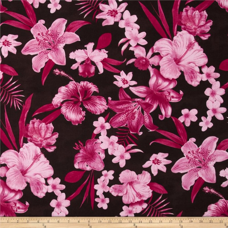 Robert Kaufman - Tahitian Nights - Hot Pink