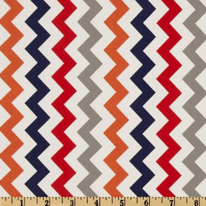 Riley Blake Small Chevron - Multi Orange