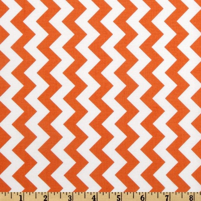 Riley Blake Small Chevron - Orange
