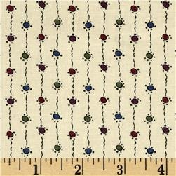 Andover Downton Abbey Dowager Countess String Dots - tan
