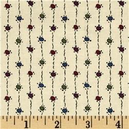 Andover Downton Abbey Dowager Countess String Dots - tan