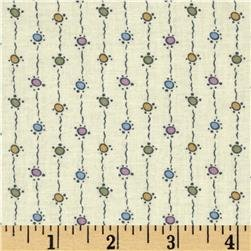 Andover Downton Abbey Dowager Countess String Dots - pastel