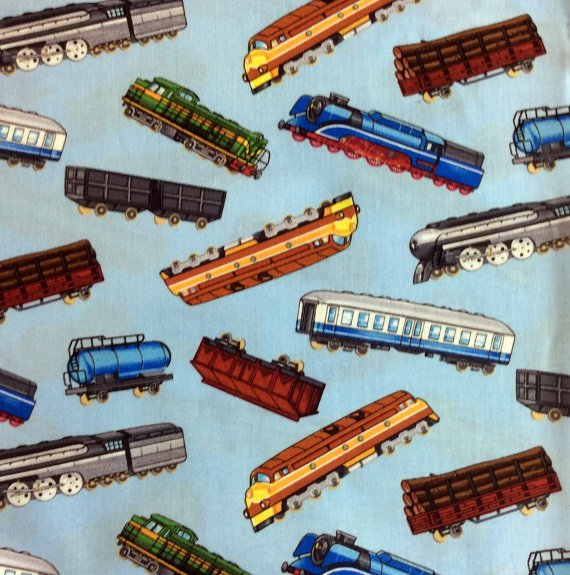 Timeless Treasures - Model Train Fabric