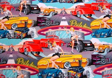 Alexander Henry Fabrics - Phil's Drive In - DE6767