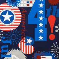 Alexander Henry - Love, Luck & Liberty: Happy Birthday USA BLUE