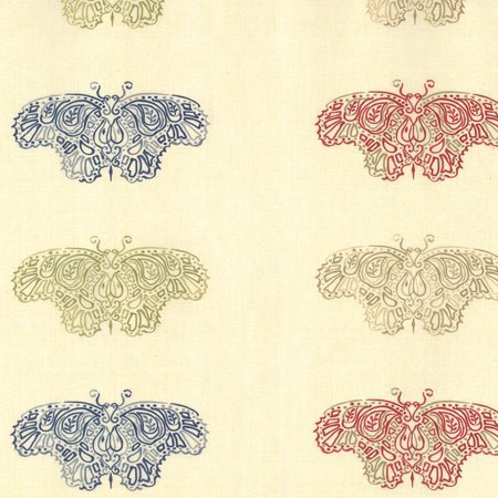 Moda Woodland Summer Prints 6540 11 Large Butterflies - Multi on Ivory