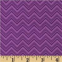 Henry Glass - Silly Gilly & Friends - Purple Chevron