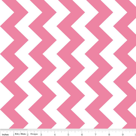 Riley Blake Medium Chevron - Hot Pink