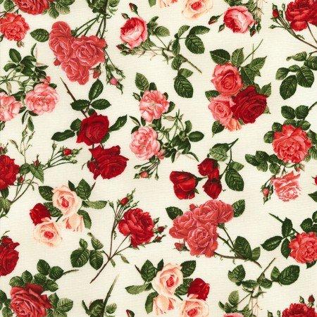 Timeless Treasures Rose - C5814 - Cream