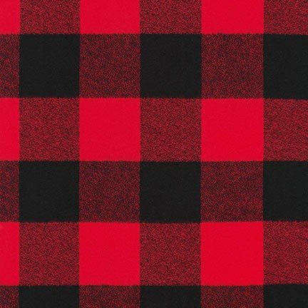 Robert Kaufman Mammoth Flannel - Red - SRKF-16943-3