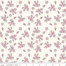 Riley Blake Think Pink - Cream Floral C3702