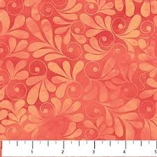 Northcott Songbird - Orange/Pink