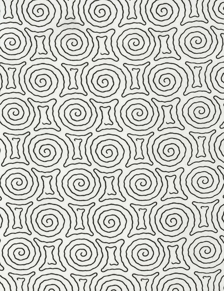 Timeless Treasures - Spiral Maze - Vanessa - C5657 - White