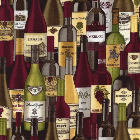 Timeless Treasures GM-C3068 Wine Bottles