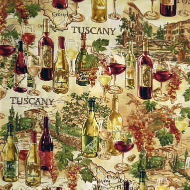 Timeless Treasures  Wine Map - C4487
