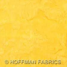 Hoffman - Yellow Batik Blondedale