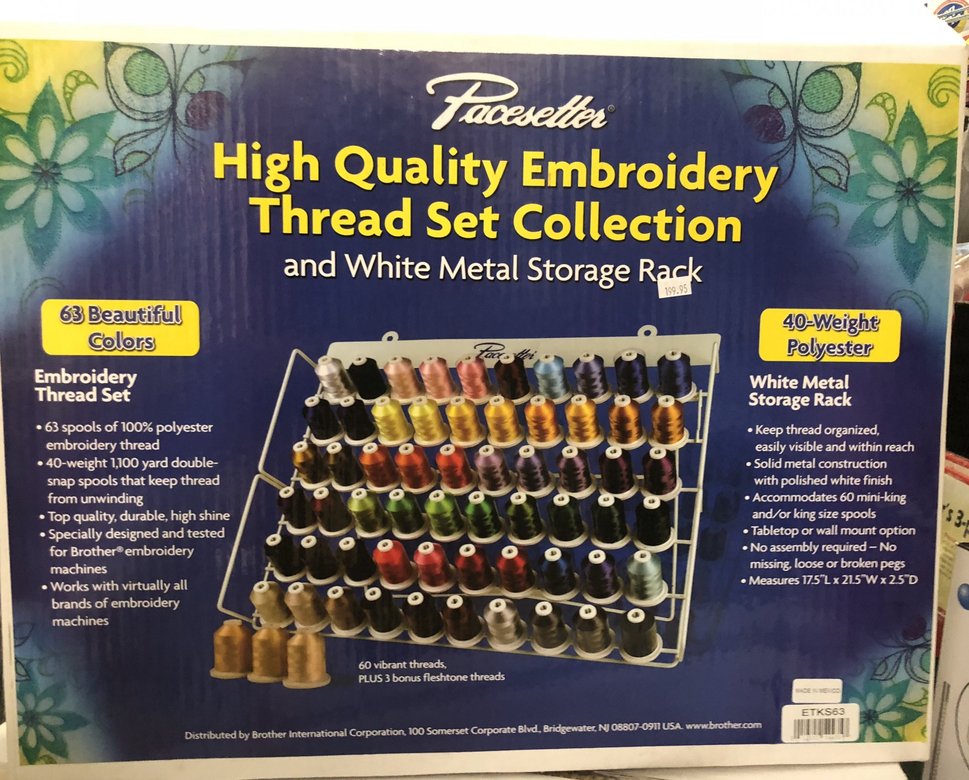 Embroidery Thread 63 colors + Stand