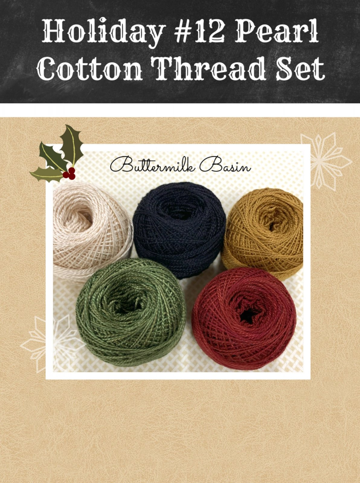 Holiday #12 Pearl Cotton Thread Set