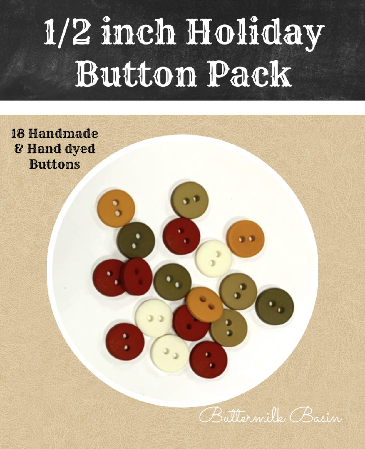 1/2 Holiday Button Pack
