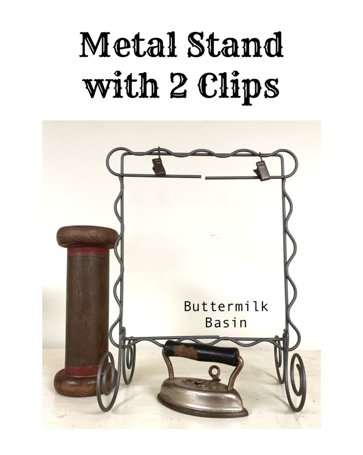Metal Stand with 2 Clips