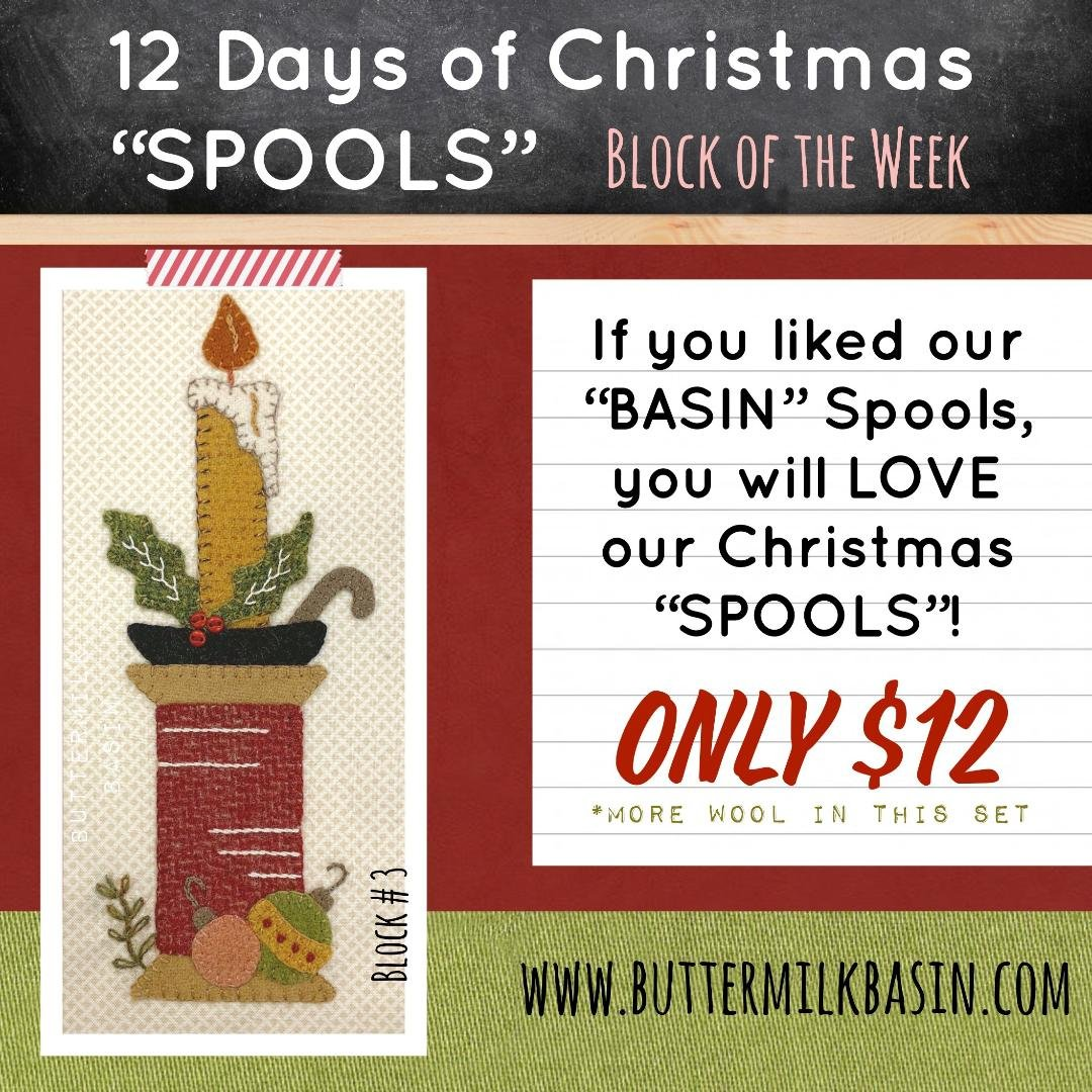 12 Days of Christmas Spools! * Block 3 * KIT & Pattern
