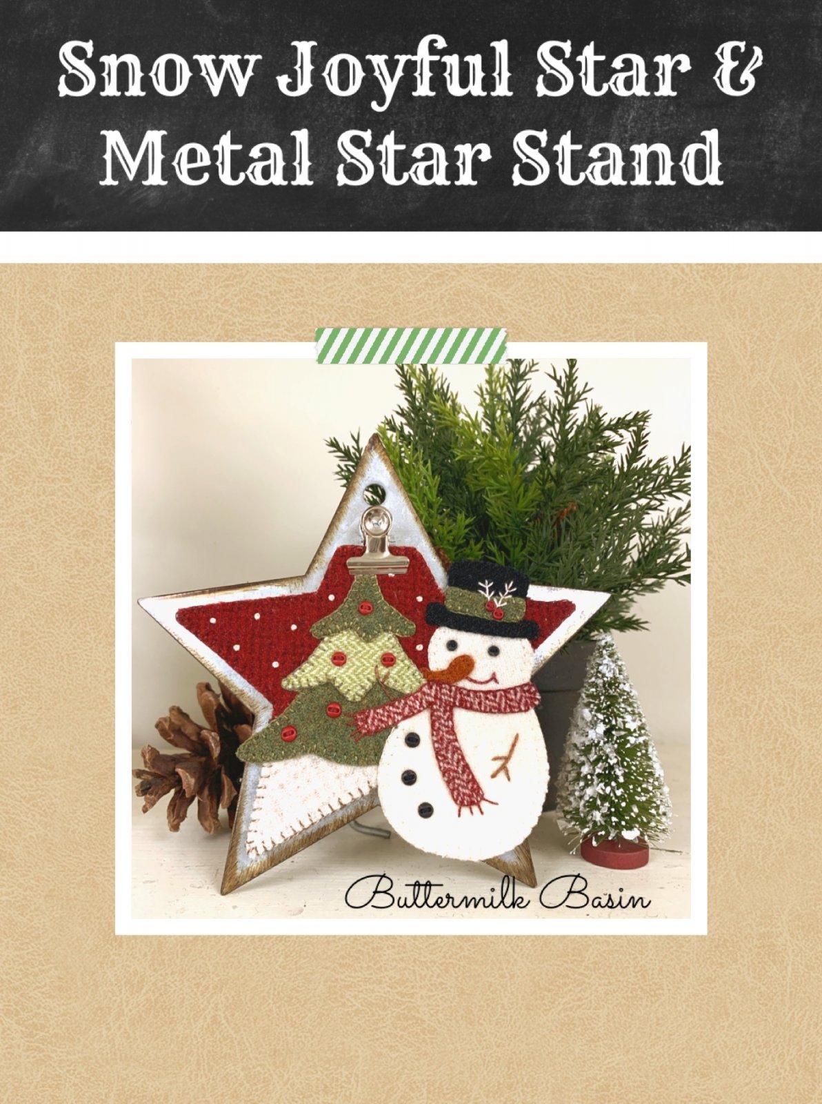 Snow Joyful Star on Metal Star Stand * KIT, Stand & Pattern