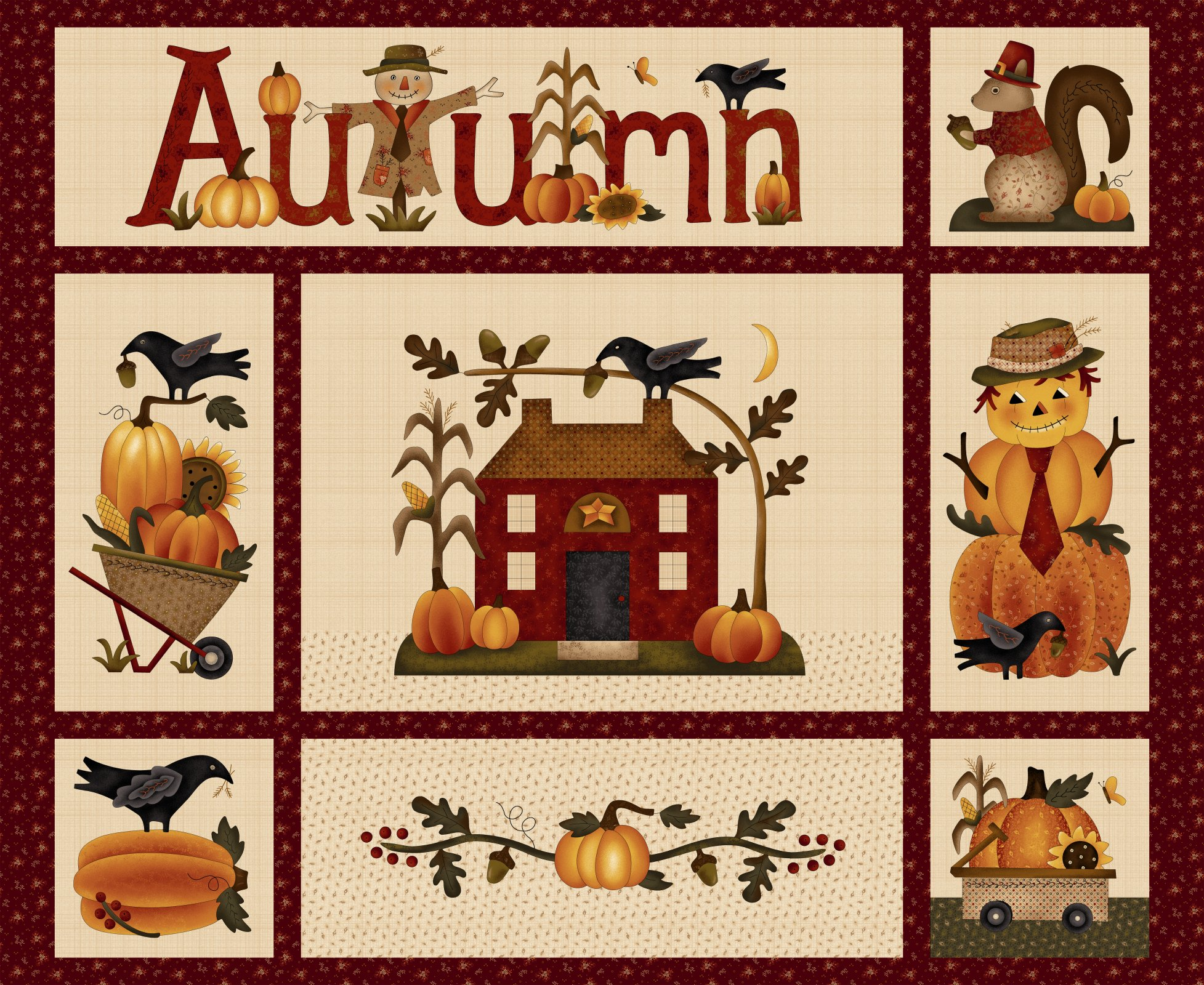 Buttermilk Autumn Panel - 2271P