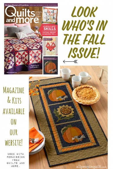 Go To Online Purchase A Kit For This Beautiful Fall Runner Designed By Stacy