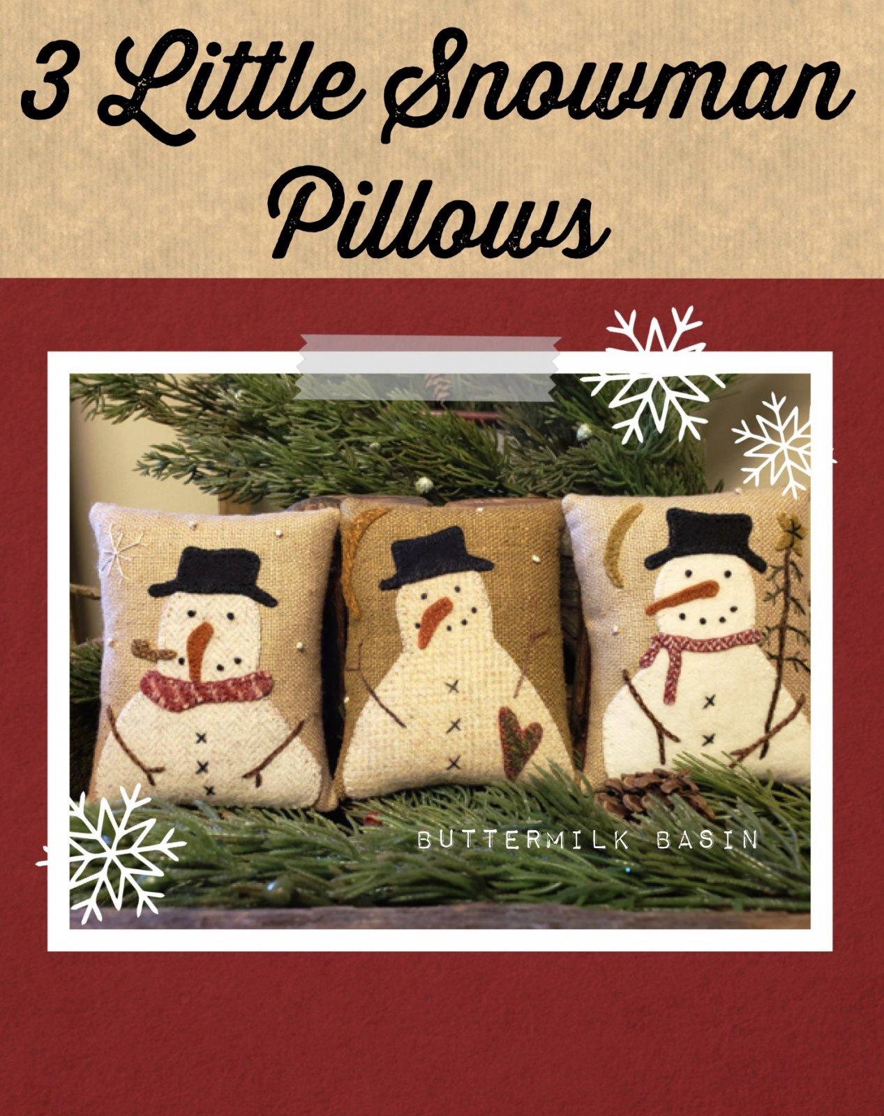 3 Little Snowman Pillows * Pattern