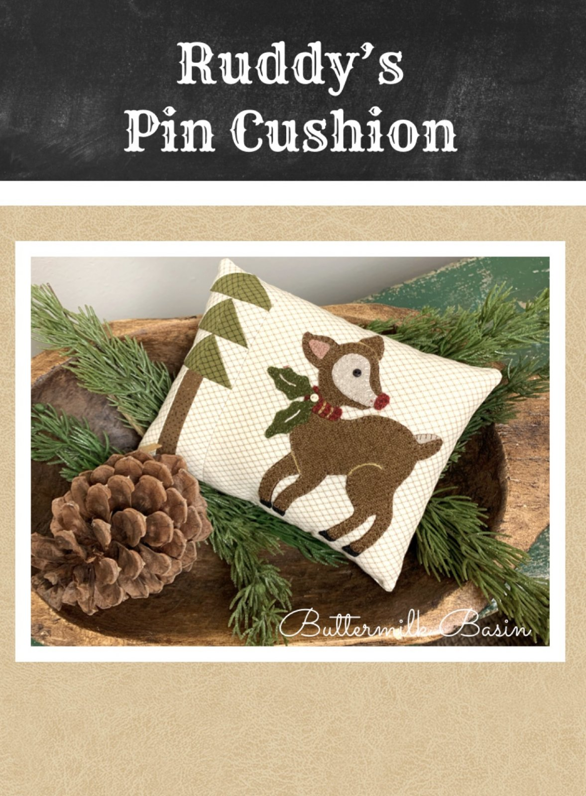Ruddy's Pin Cushion * KIT & Pattern