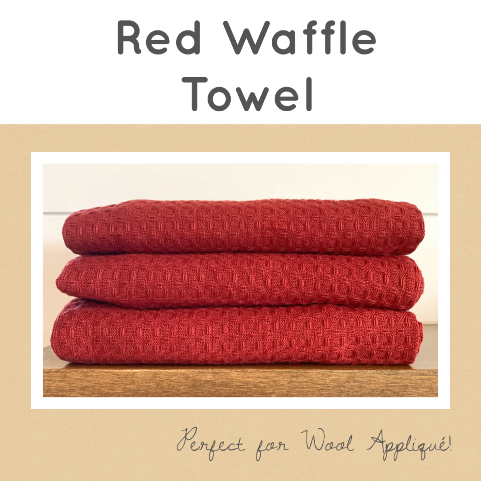 Red Waffle Towel