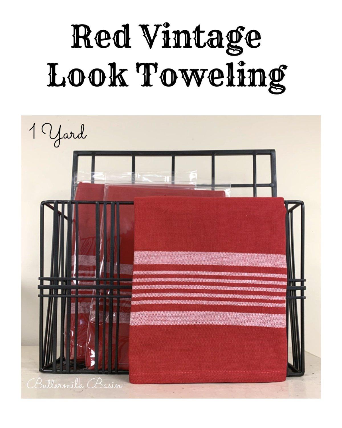 Red Vintage Look Toweling