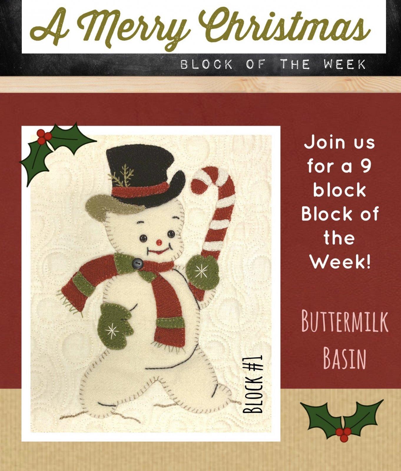 A Merry Christmas Block #1 * KIT & Pattern