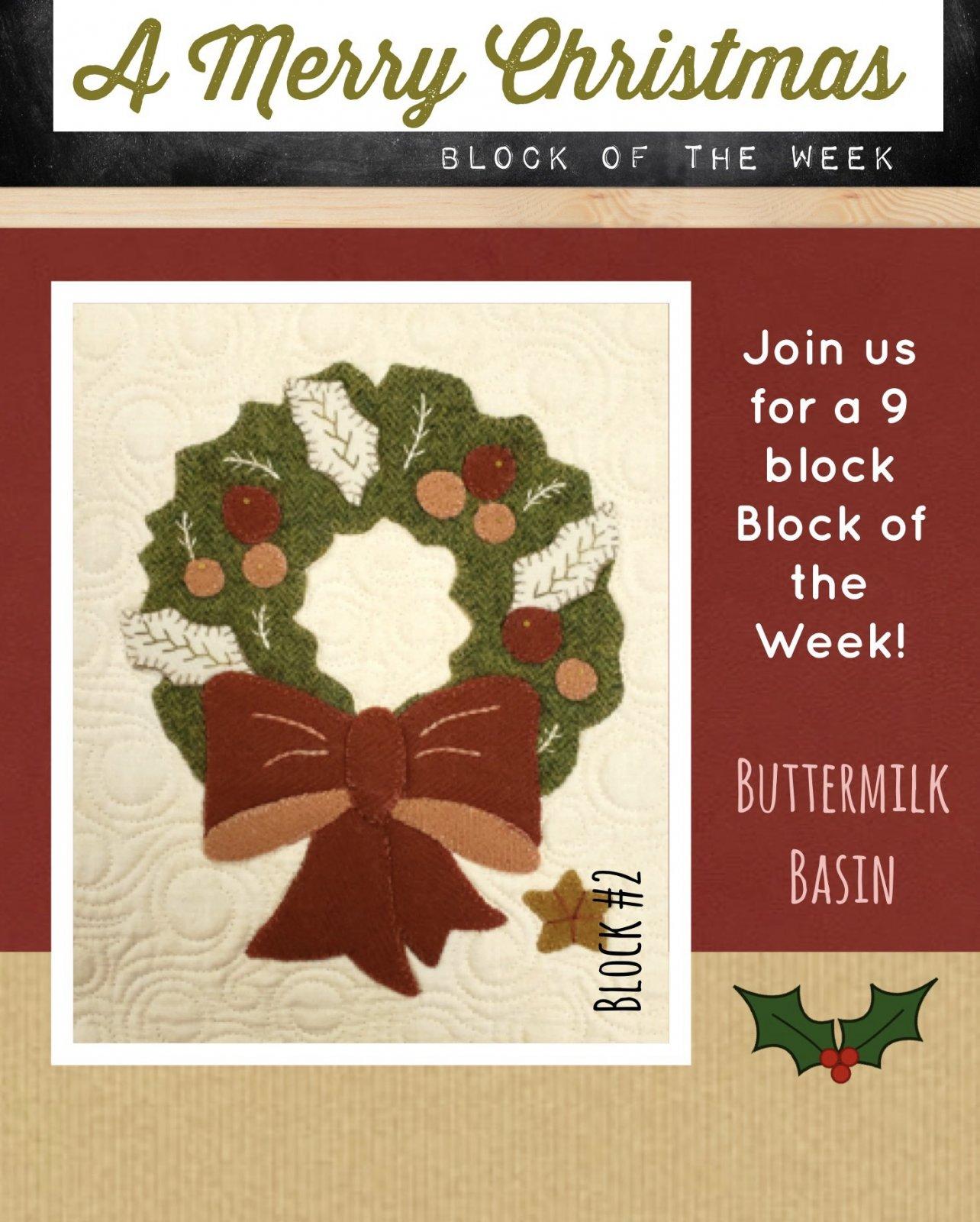 A Merry Christmas Block #2 * KIT & Pattern