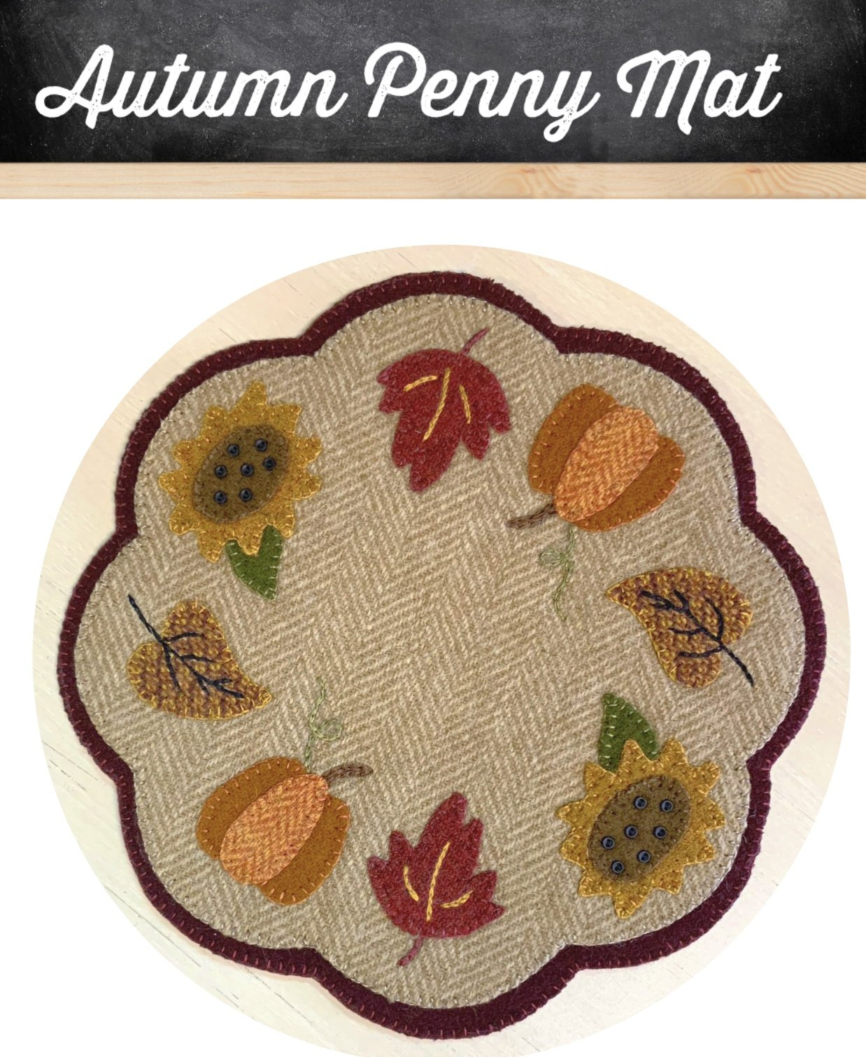 Autumn Penny Mat *Kit & Pattern