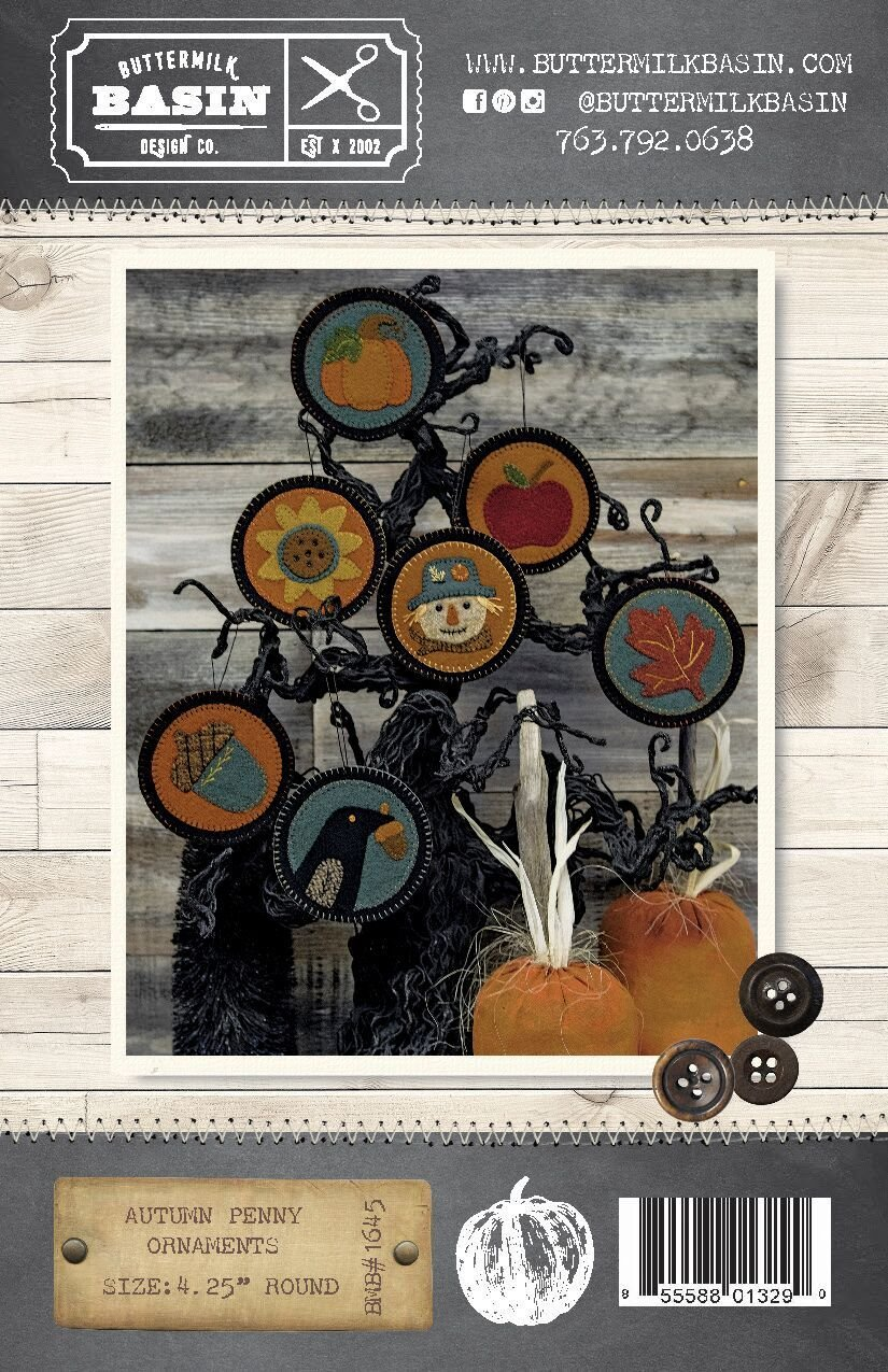 Autumn Penny Ornaments Pattern and Kit