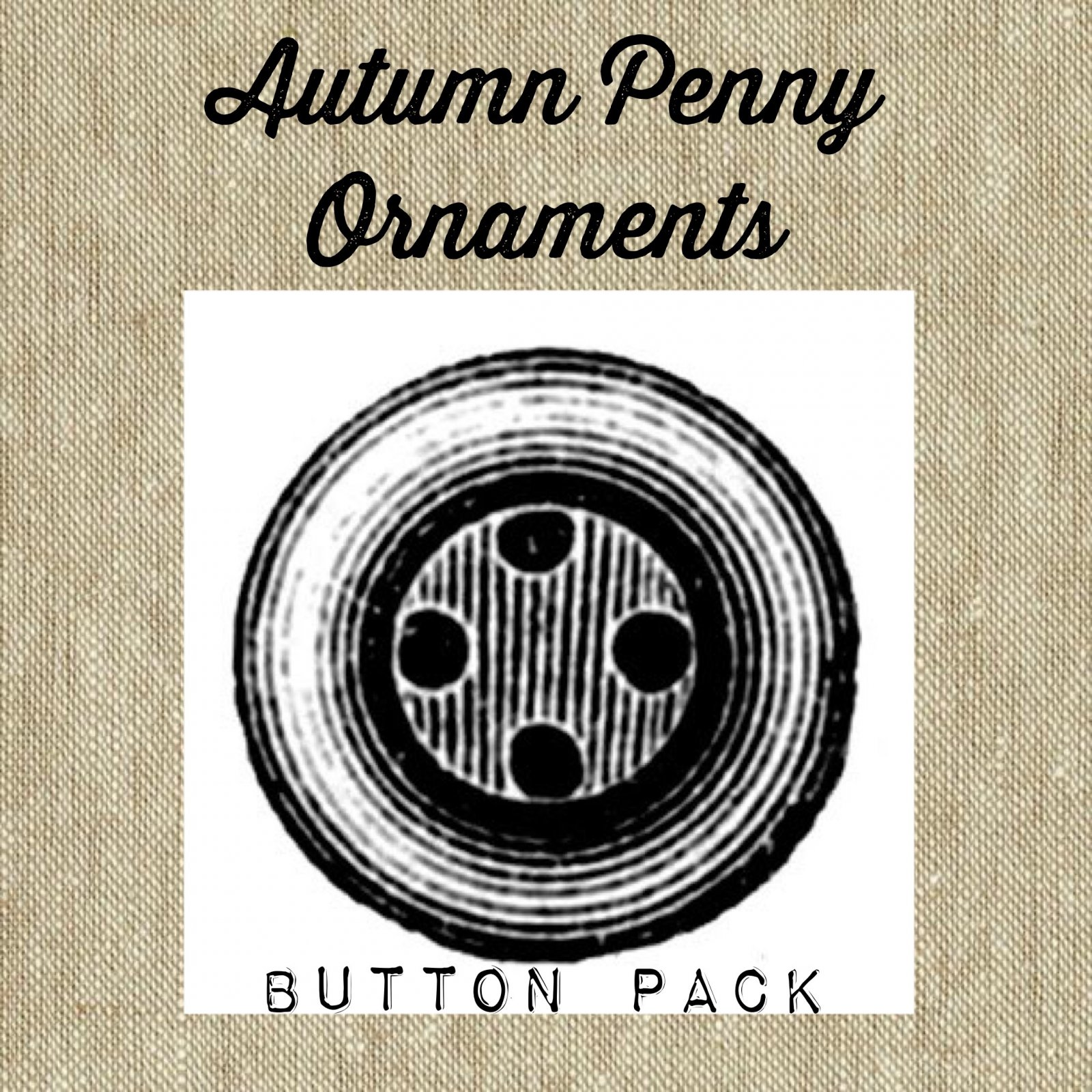 Autumn Penny Ornaments Button Pack