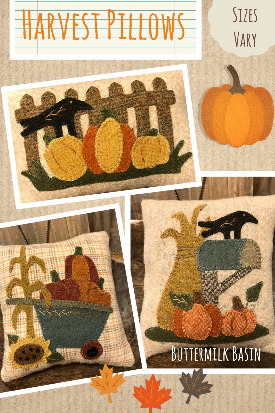 Harvest Pillows WOOL Kit & Pattern