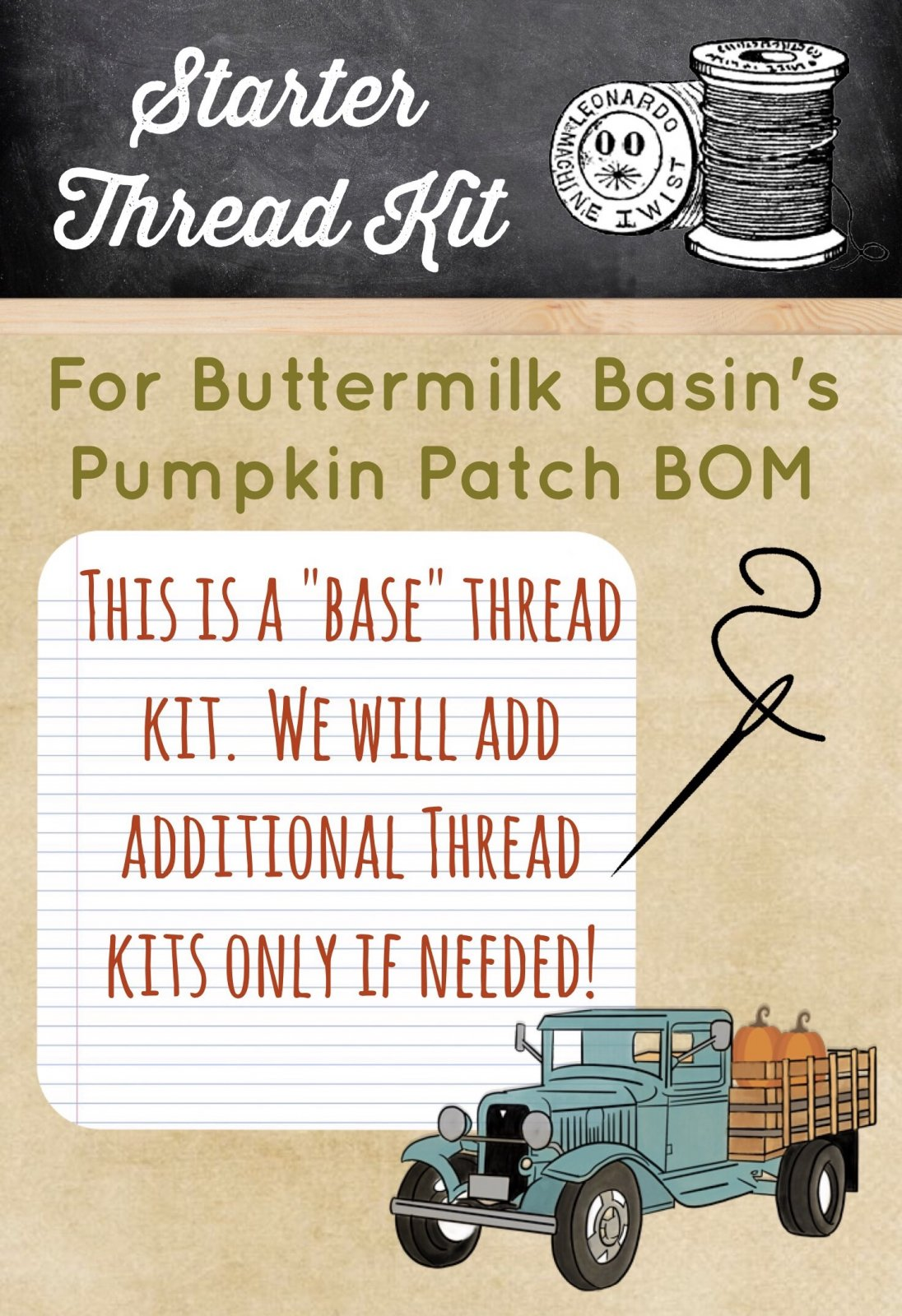 Starter Thread Kit for BB Pumpkin Farm