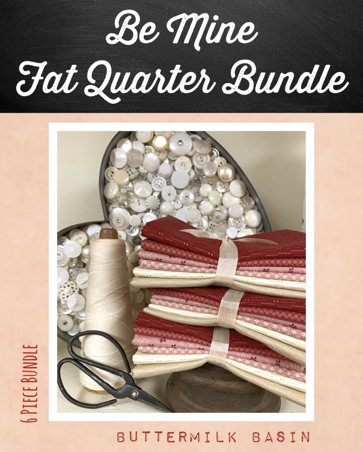 Be Mine 6 Piece Fat Quarter Bundle