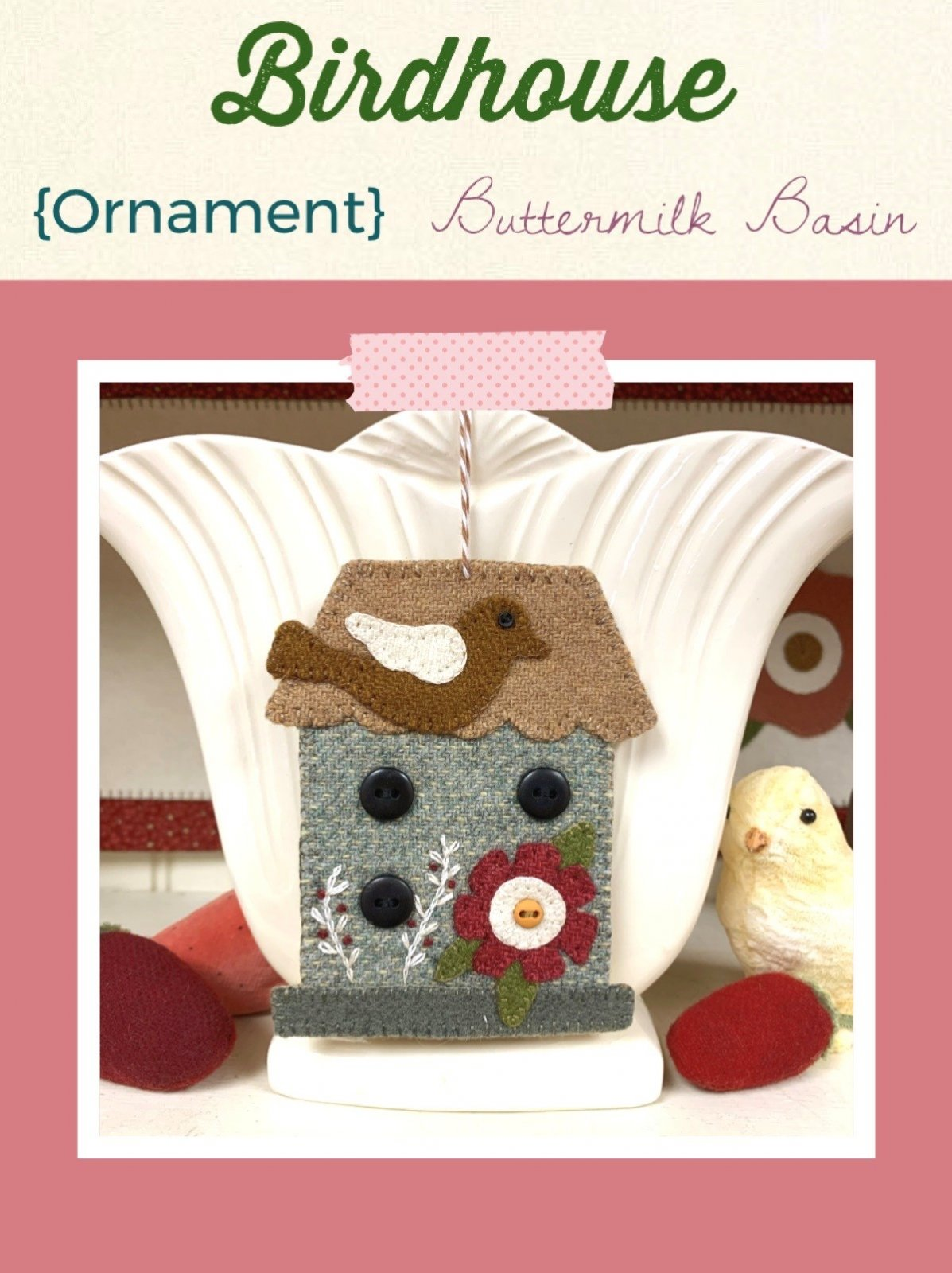 Birdhouse Ornament * KIT & Pattern