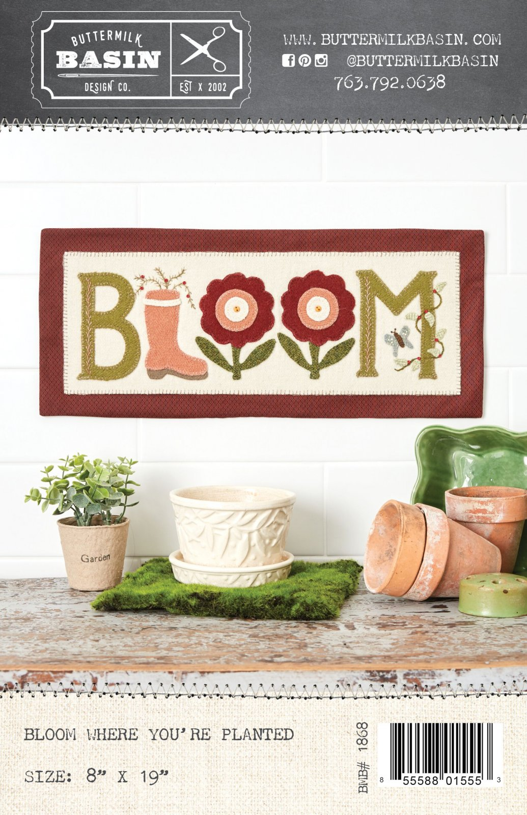 Bloom Where You're Planted *Kit & Pattern