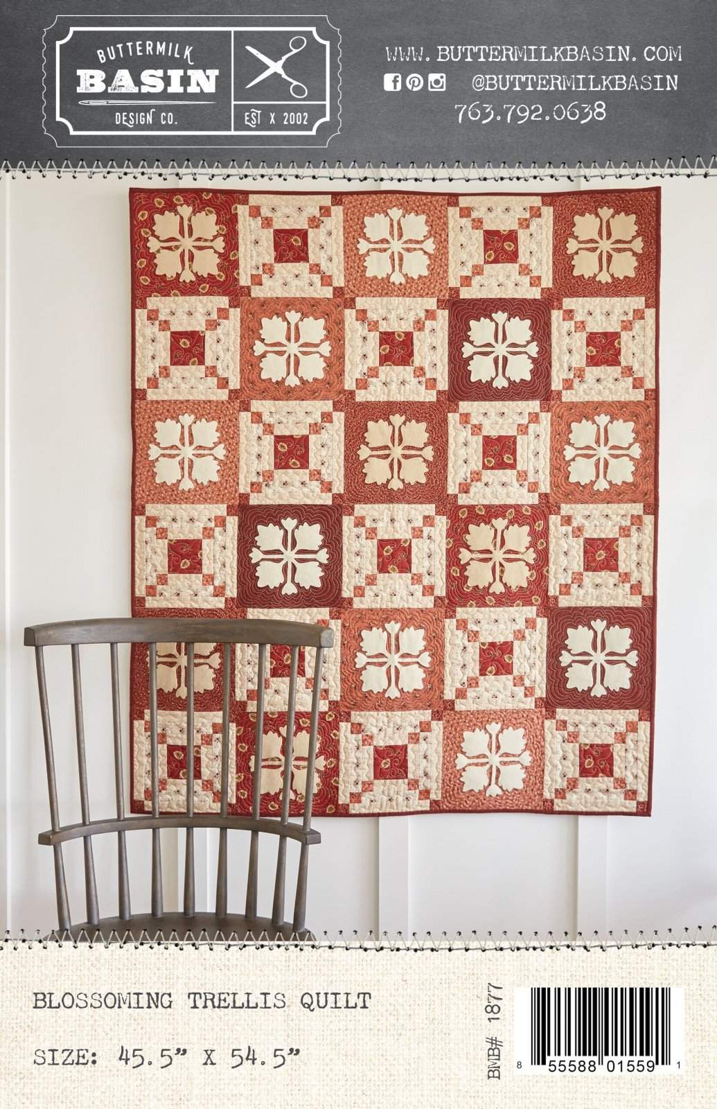 Blossoming Trellis Quilt *Kit & Pattern