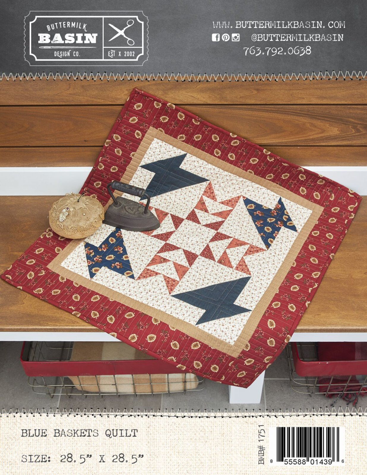 Blue Baskets Quilt *Kit & Pattern